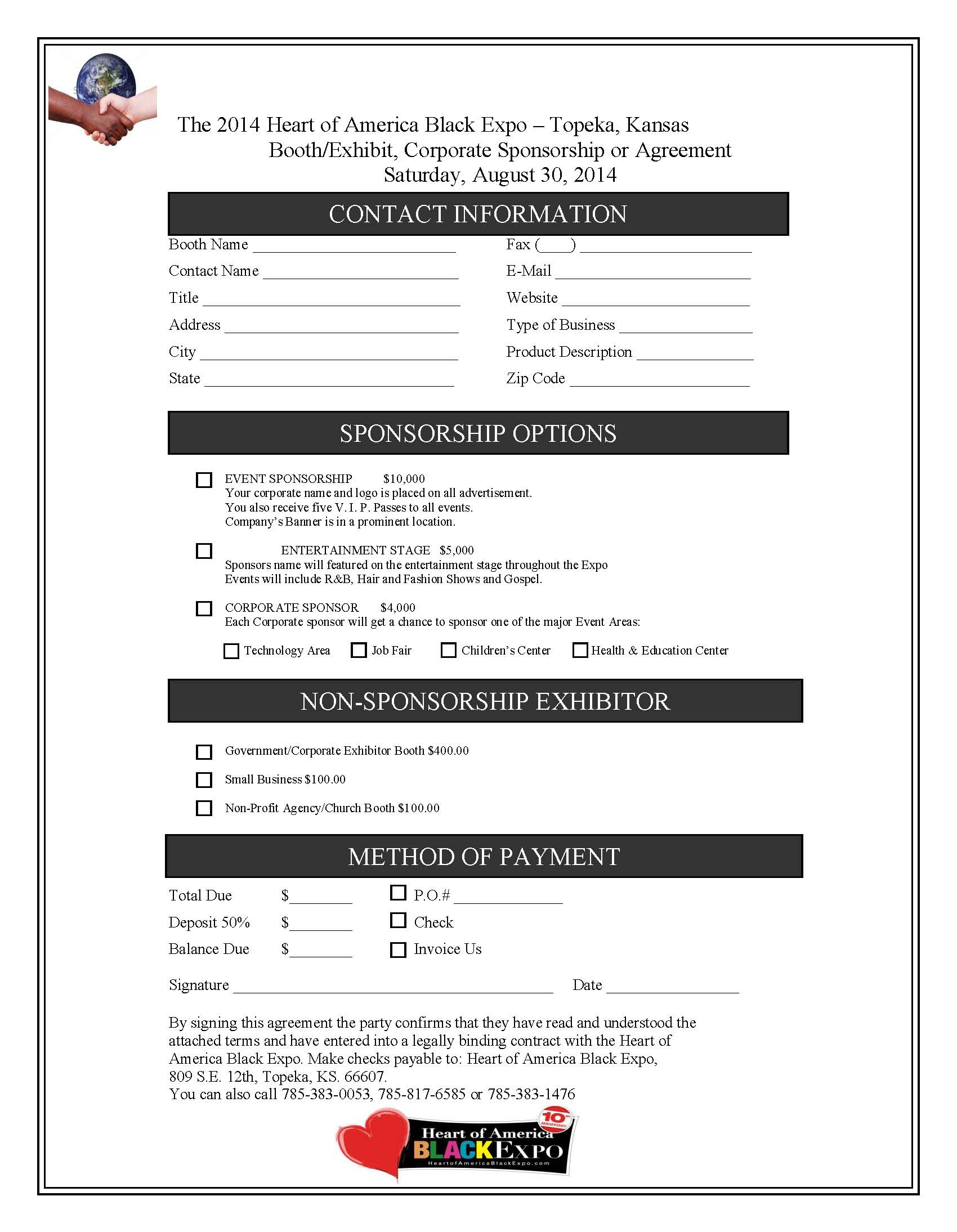 Expo Booths Registration Form